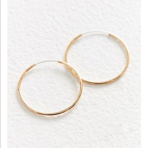 18k gold sterling silver plated small hoop Earring